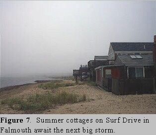 Tropical Storm Floyd impacts Falmouth, MA - house on Surf Drive.