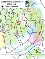 Locus Map of Town of Falmouth