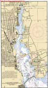 Nautical Map of New Bedford Harbor / Acushnet River.