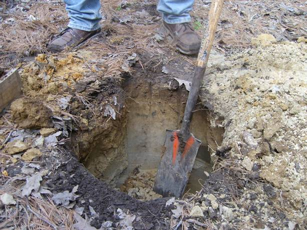 Always start your soil investigation with digging a hole