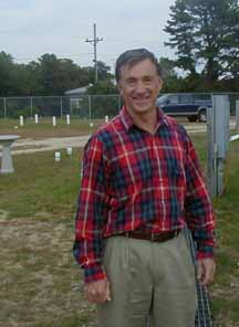 Dr. Craig Jowett, visits the Septic System Test Center