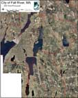 Map of Town of Fall River Parcels on aerial photo