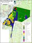 1999 MassGIS land use data for the town of Fall River, MA