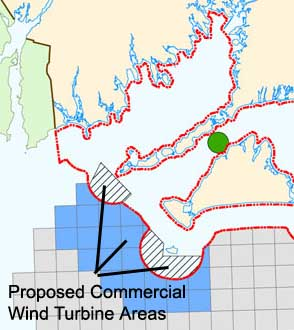 Proposed commercial renewable areas for Buzzards Bay