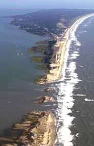 New inlet in Hatteras Island