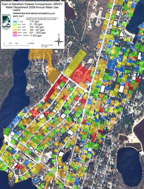 Variable water use in Shangri La Wareham, MA